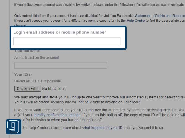 Enter your login email address or mobile phone number