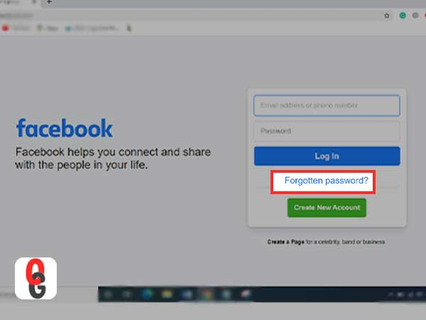 Forgotten acebook Password