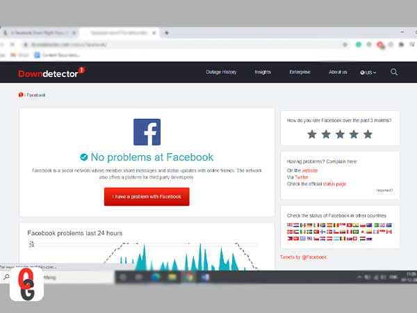 Facebook Downdetector
