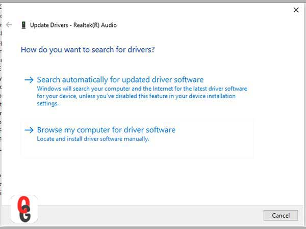 How do you want to search for drivers