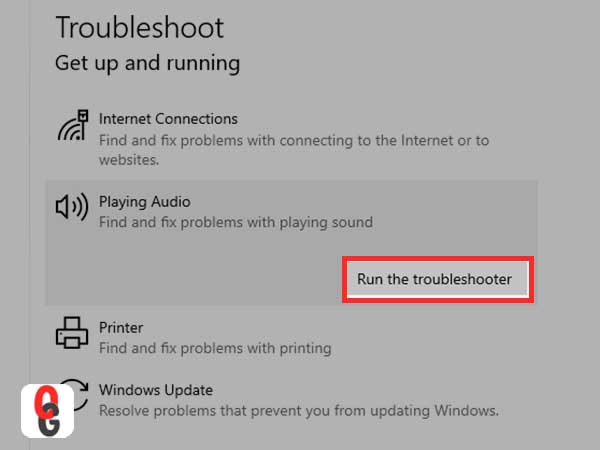 Run the Troubleshoote