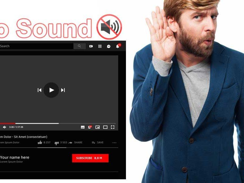 fix no sound on youtube