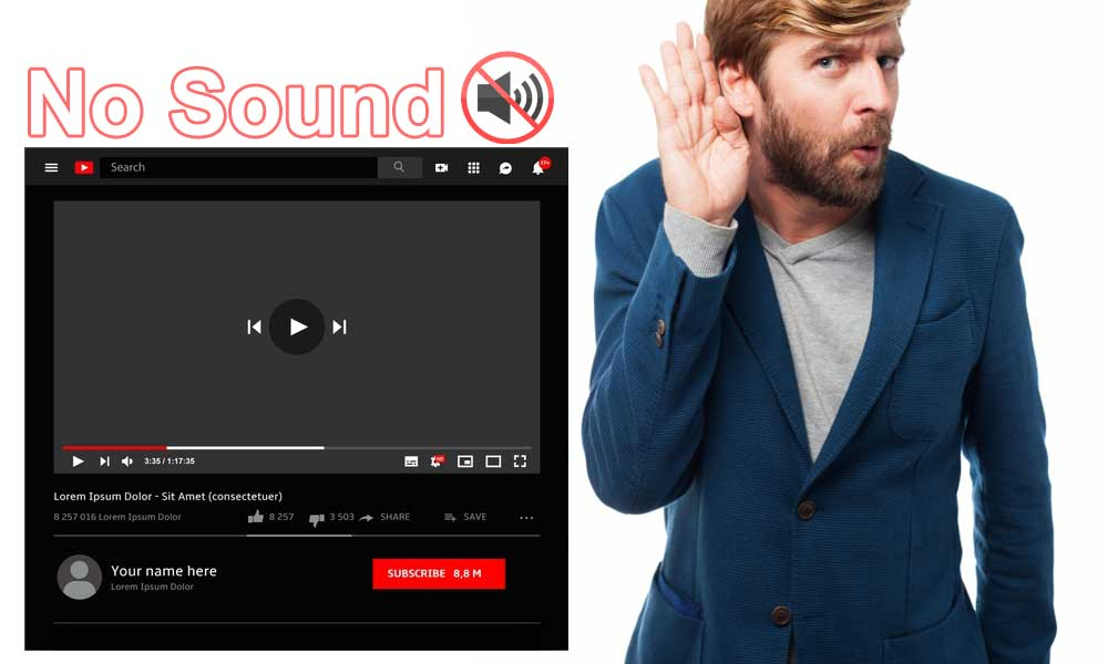 fix no sound on youtube