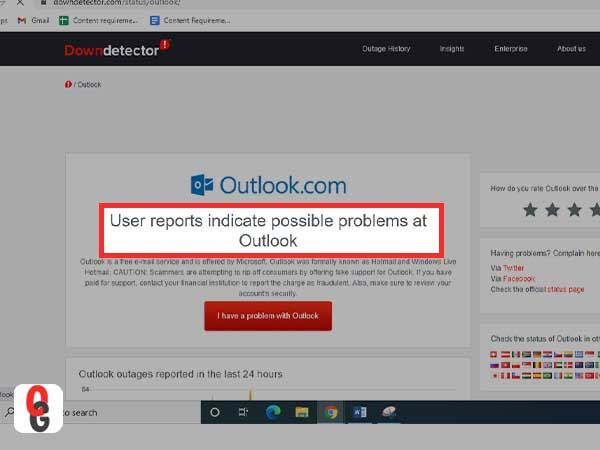 Check Outlook Server Status